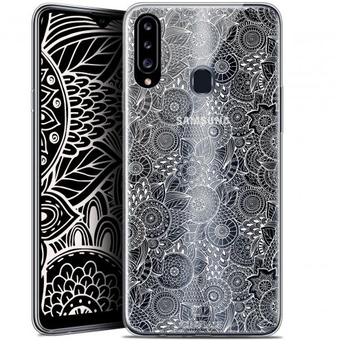 "Coque Gel Samsung Galaxy A20s (6.5"") Extra Fine Dentelle Florale - Blanc"