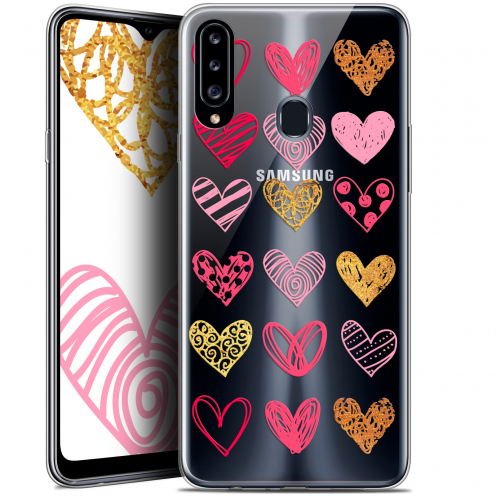 "Coque Gel Samsung Galaxy A20s (6.5"") Extra Fine Sweetie - Doodling Hearts"