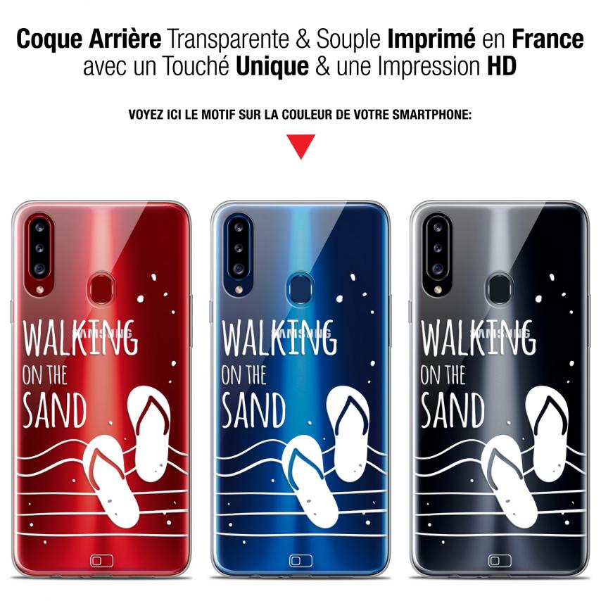 "Coque Gel Samsung Galaxy A20s (6.5"") Extra Fine Summer - Walking on the Sand"