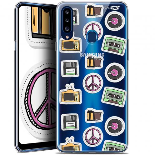 """Coque Gel Samsung Galaxy A20s (6.5"""") Extra Fine Motif - Vintage Stickers"""