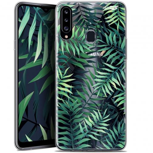 """Coque Gel Samsung Galaxy A20s (6.5"""") Extra Fine Motif - Feuilles des Tropiques"""