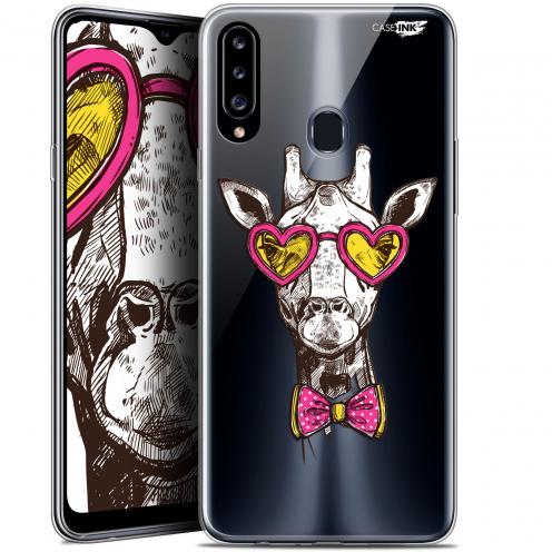 """Coque Gel Samsung Galaxy A20s (6.5"""") Extra Fine Motif - Hipster Giraffe"""