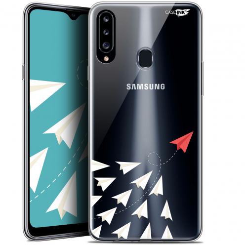 "Coque Gel Samsung Galaxy A20s (6.5"") Extra Fine Motif - Papier Volant"