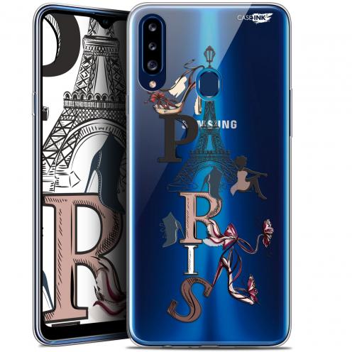 """Coque Gel Samsung Galaxy A20s (6.5"""") Extra Fine Motif - Stylish Paris"""