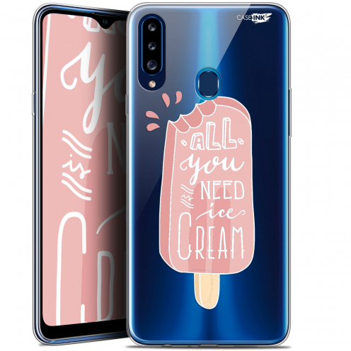 "Coque Gel Samsung Galaxy A20s (6.5"") Extra Fine Motif - Ice Cream"