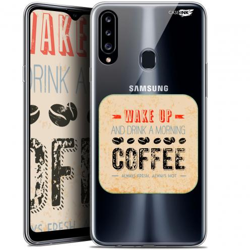 "Coque Gel Samsung Galaxy A20s (6.5"") Extra Fine Motif - Wake Up With Coffee"