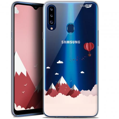 "Coque Gel Samsung Galaxy A20s (6.5"") Extra Fine Motif - Montagne En Montgolfière"