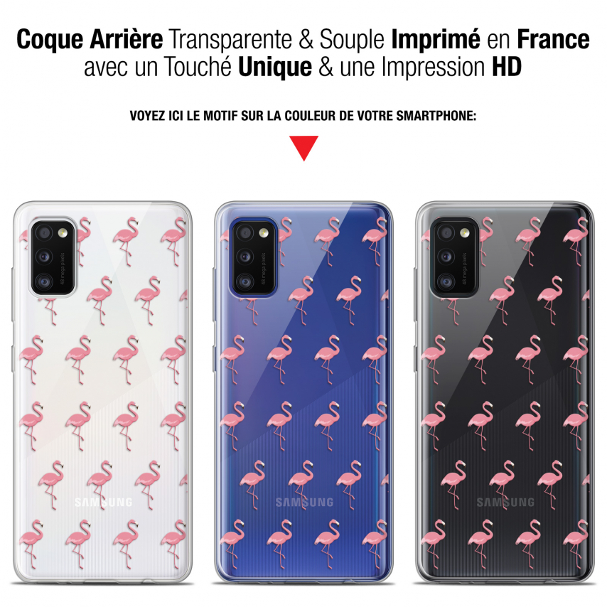 "Coque Gel Samsung Galaxy A41 (6.1"") Extra Fine Pattern - Les flamants Roses"