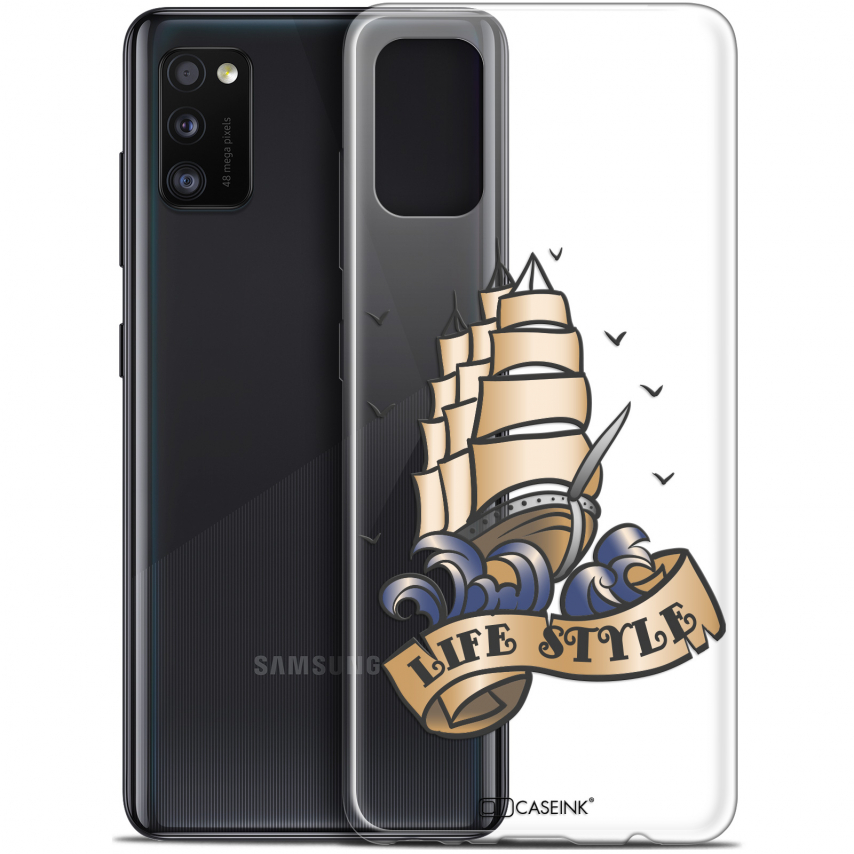 "Coque Gel Samsung Galaxy A41 (6.1"") Extra Fine Tatoo Lover - Fashion"