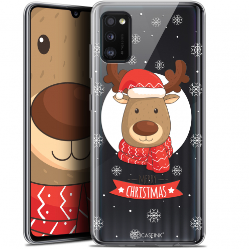 "Coque Gel Samsung Galaxy A41 (6.1"") Extra Fine Noël - Cerf à Echarpe"
