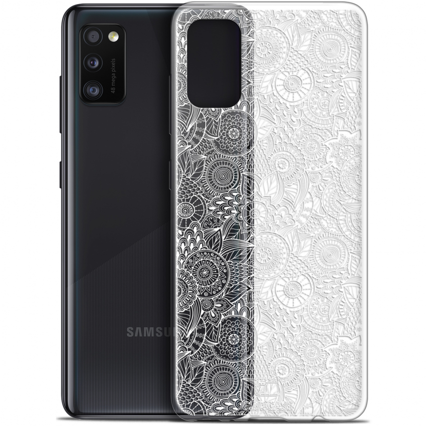 "Coque Gel Samsung Galaxy A41 (6.1"") Extra Fine Dentelle Florale - Blanc"