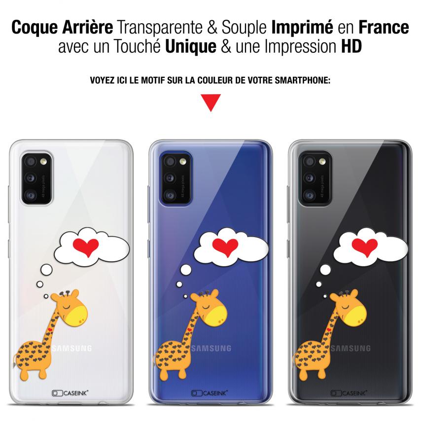 "Coque Gel Samsung Galaxy A41 (6.1"") Extra Fine Love - Girafe Amoureuse"