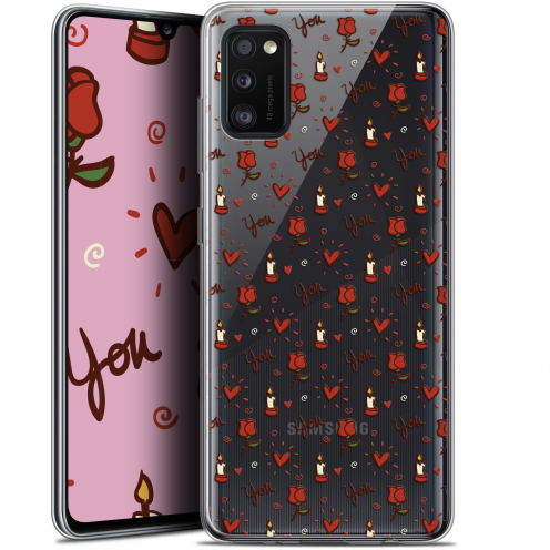 """Coque Gel Samsung Galaxy A41 (6.1"""") Extra Fine Love - Bougies et Roses"""