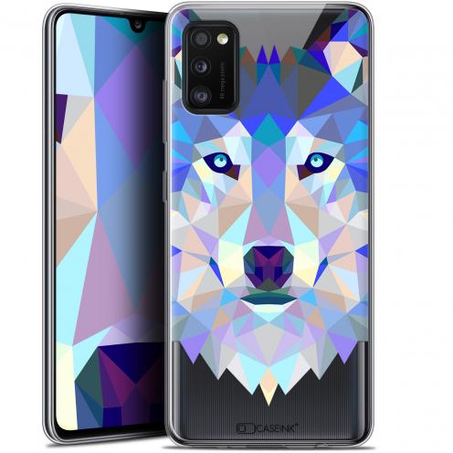 "Coque Gel Samsung Galaxy A41 (6.1"") Extra Fine Polygon Animals - Loup"