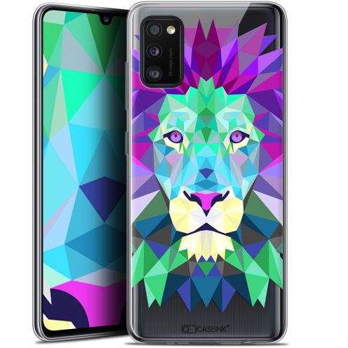 "Coque Gel Samsung Galaxy A41 (6.1"") Extra Fine Polygon Animals - Lion"