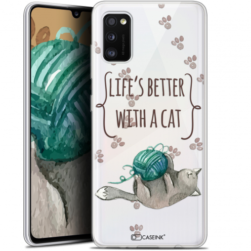 """Coque Gel Samsung Galaxy A41 (6.1"""") Extra Fine Quote - Life's Better With a Cat"""