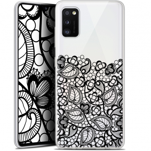 "Coque Gel Samsung Galaxy A41 (6.1"") Extra Fine Spring - Bas dentelle Noir"