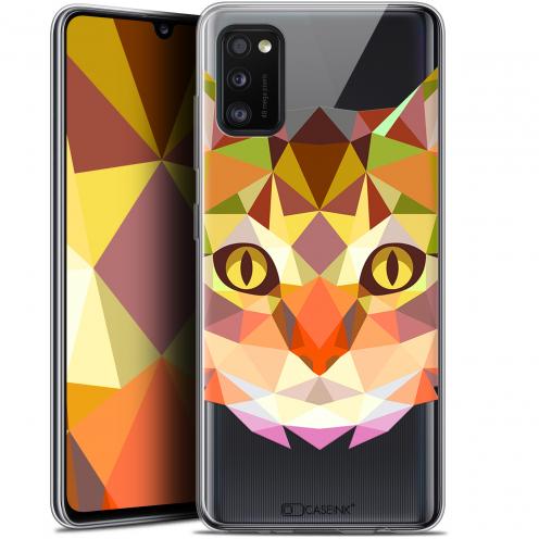 """Coque Gel Samsung Galaxy A41 (6.1"""") Extra Fine Polygon Animals - Chat"""