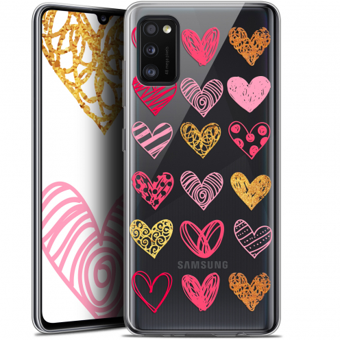 "Coque Gel Samsung Galaxy A41 (6.1"") Extra Fine Sweetie - Doodling Hearts"