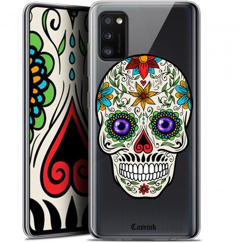 """Coque Gel Samsung Galaxy A41 (6.1"""") Extra Fine Skull - Maria's Flower"""