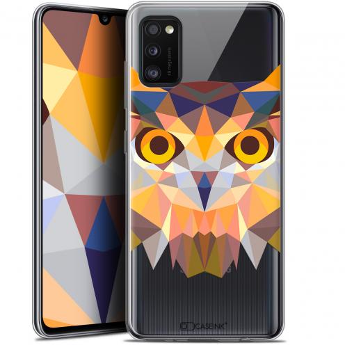 "Coque Gel Samsung Galaxy A41 (6.1"") Extra Fine Polygon Animals - Hibou"
