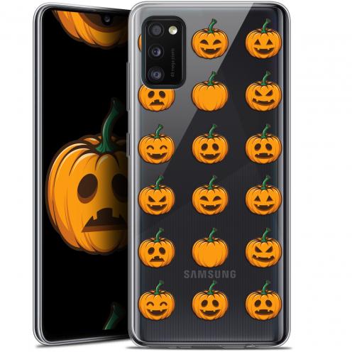 "Coque Gel Samsung Galaxy A41 (6.1"") Extra Fine Halloween - Smiley Citrouille"
