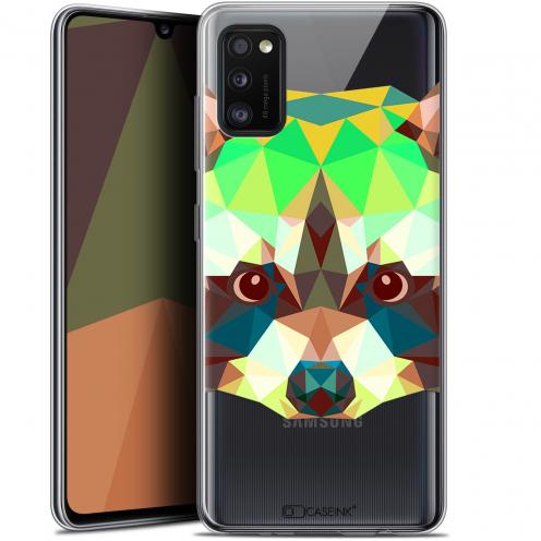 """Coque Gel Samsung Galaxy A41 (6.1"""") Extra Fine Polygon Animals - Raton Laveur"""