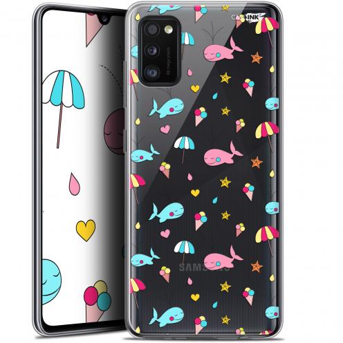 """Coque Gel Samsung Galaxy A41 (6.1"""") Extra Fine Motif - Baleine à la Plage"""