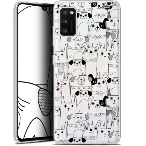 "Coque Gel Samsung Galaxy A41 (6.1"") Extra Fine Motif - Chien Noir"