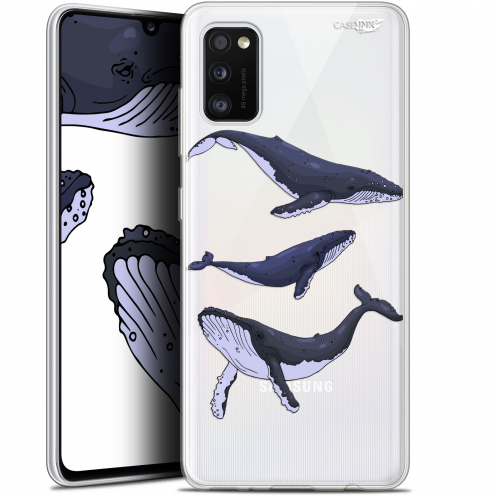 "Coque Gel Samsung Galaxy A41 (6.1"") Extra Fine Motif - Les 3 Baleines"