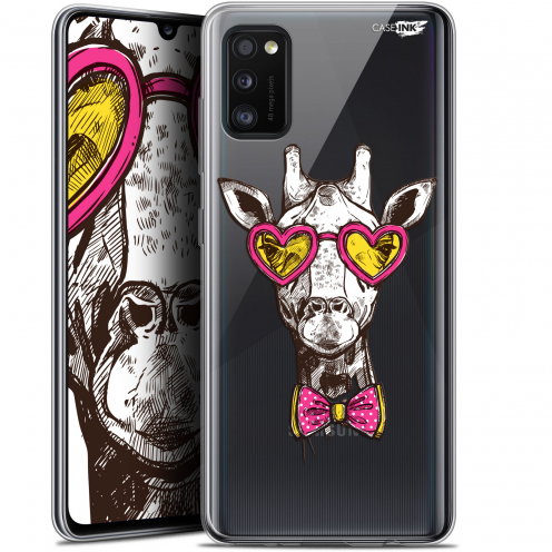 "Coque Gel Samsung Galaxy A41 (6.1"") Extra Fine Motif - Hipster Giraffe"