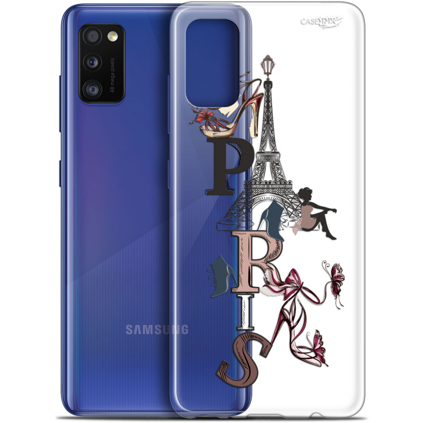 "Coque Gel Samsung Galaxy A41 (6.1"") Extra Fine Motif - Stylish Paris"