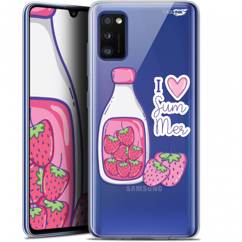 "Coque Gel Samsung Galaxy A41 (6.1"") Extra Fine Motif - Milky Summer"