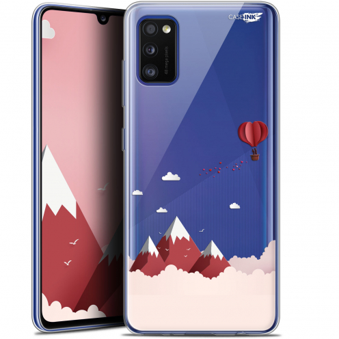 """Coque Gel Samsung Galaxy A41 (6.1"""") Extra Fine Motif - Montagne En Montgolfière"""