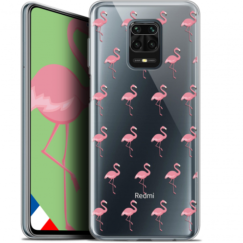 "Coque Gel Xiaomi Redmi Note 9S (6.67"") Extra Fine Pattern - Les flamants Roses"