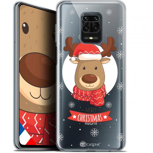 """Coque Gel Xiaomi Redmi Note 9S (6.67"""") Extra Fine Noël - Cerf à Echarpe"""