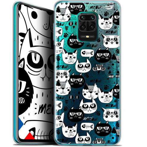 "Coque Gel Xiaomi Redmi Note 9S (6.67"") Extra Fine Motif - Chat Noir Chat Blanc"