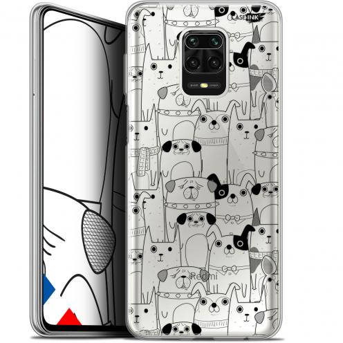 """Coque Gel Xiaomi Redmi Note 9S (6.67"""") Extra Fine Motif - Chien Noir"""