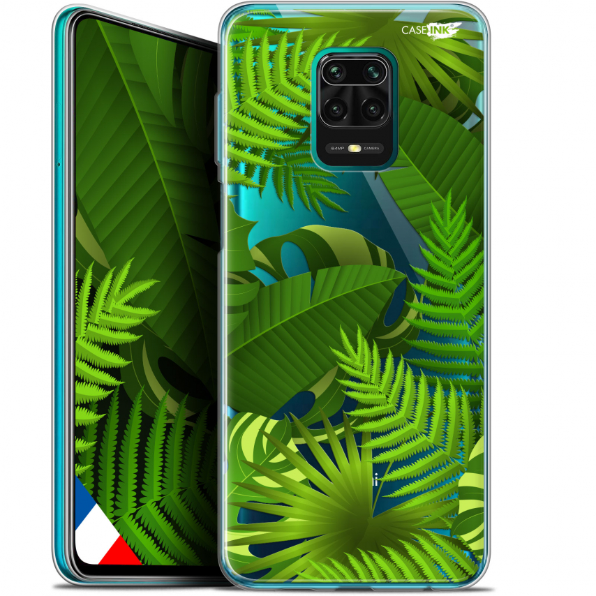 "Coque Gel Xiaomi Redmi Note 9S (6.67"") Extra Fine Motif - Plantes des Tropiques"