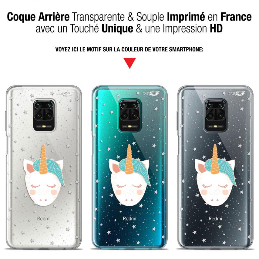 "Coque Gel Xiaomi Redmi Note 9S (6.67"") Extra Fine Motif - Licorne Dors"