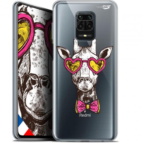 "Coque Gel Xiaomi Redmi Note 9S (6.67"") Extra Fine Motif - Hipster Giraffe"
