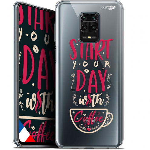 "Coque Gel Xiaomi Redmi Note 9S (6.67"") Extra Fine Motif - Start With Coffee"