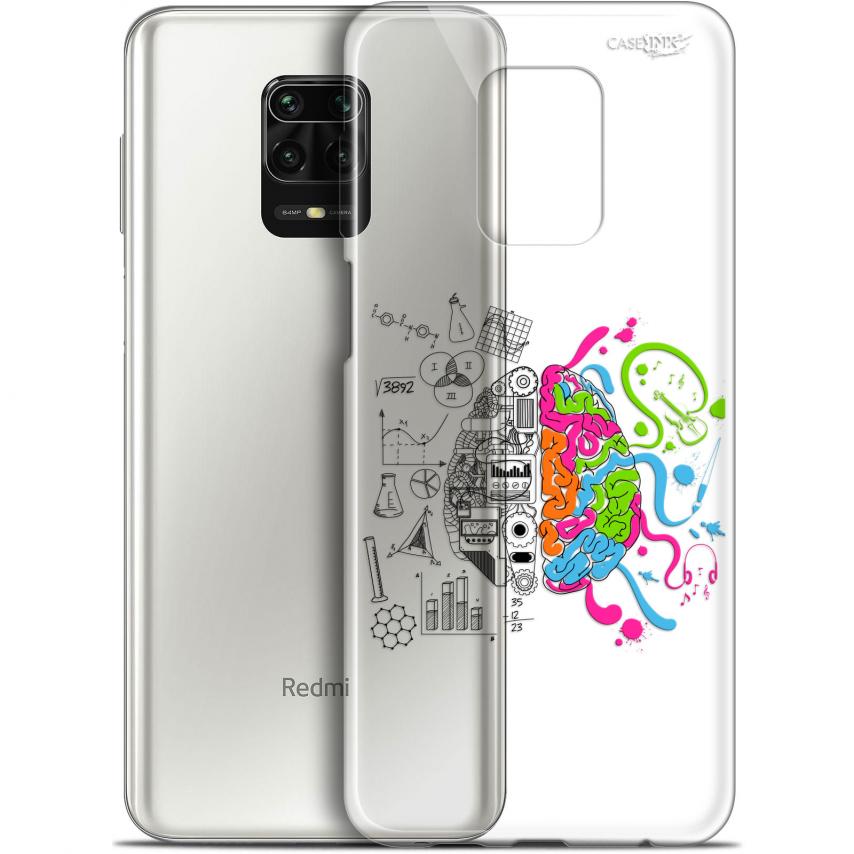 "Coque Gel Xiaomi Redmi Note 9S (6.67"") Extra Fine Motif - Le Cerveau"