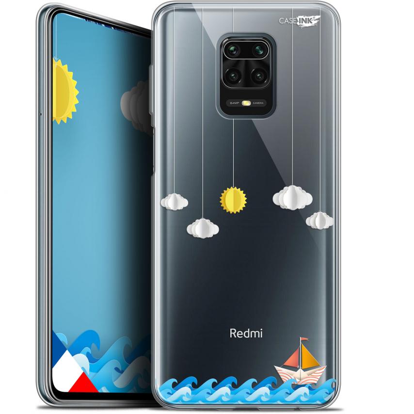 "Coque Gel Xiaomi Redmi Note 9S (6.67"") Extra Fine Motif - Petit Bateau en Mer"