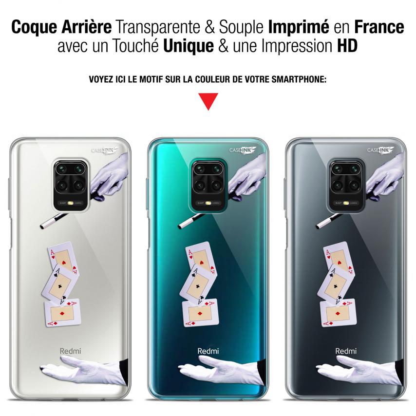 """Coque Gel Xiaomi Redmi Note 9S (6.67"""") Extra Fine Motif - Cartes Magiques"""