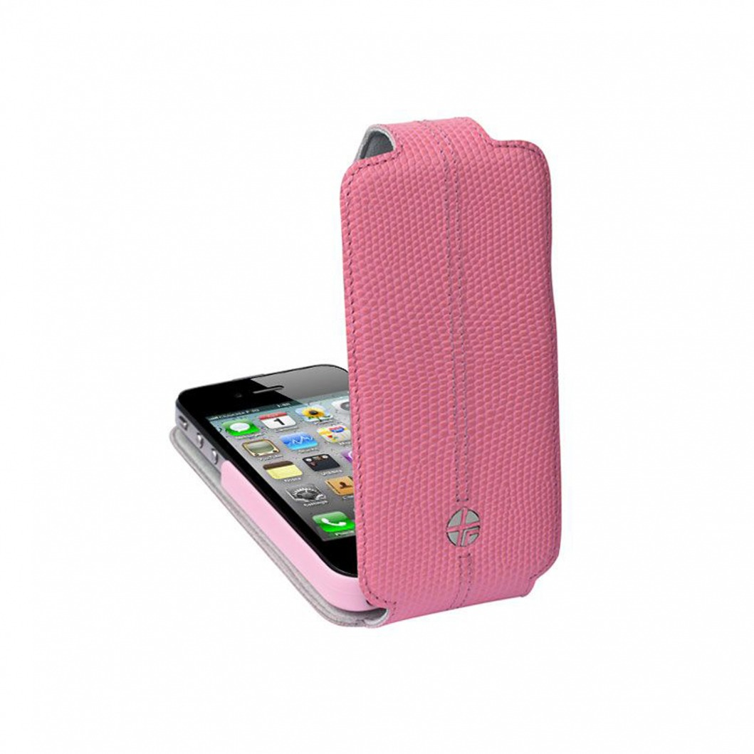 Housse cuir v ritable clapet rotative textra flippo for Housse iphone 4s