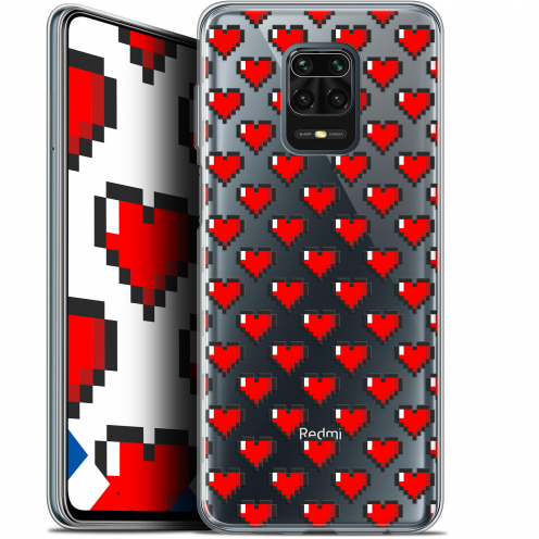 "Coque Gel Xiaomi Redmi Note 9 PRO (6.67"") Extra Fine Love - Pixel Art"