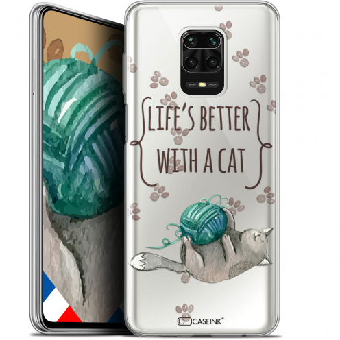 """Coque Gel Xiaomi Redmi Note 9 PRO (6.67"""") Extra Fine Quote - Life's Better With a Cat"""