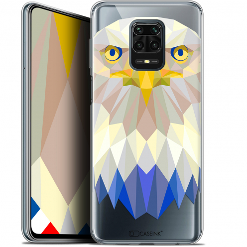 "Coque Gel Xiaomi Redmi Note 9 PRO (6.67"") Extra Fine Polygon Animals - Aigle"