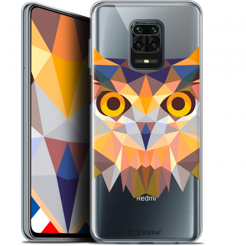 "Coque Gel Xiaomi Redmi Note 9 PRO (6.67"") Extra Fine Polygon Animals - Hibou"
